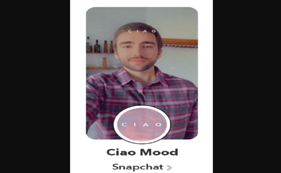 Image of Ciao Filter On Snapchat