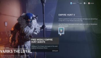 Weekly Empire Hunt Challenge