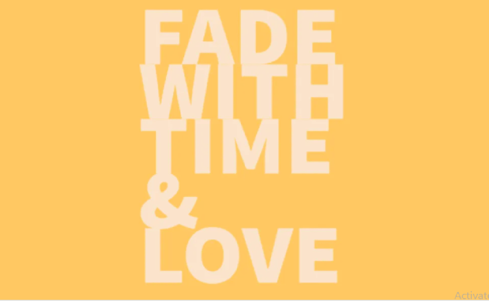 image of fade with time and love