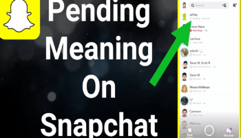 image of pending on snapchat