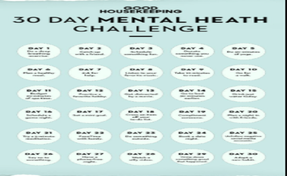Image Of How To Do 30 Day Mental Health Challenge