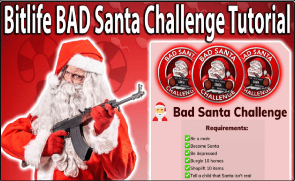 Image Of How To Do Santa Challenge In Bitlife