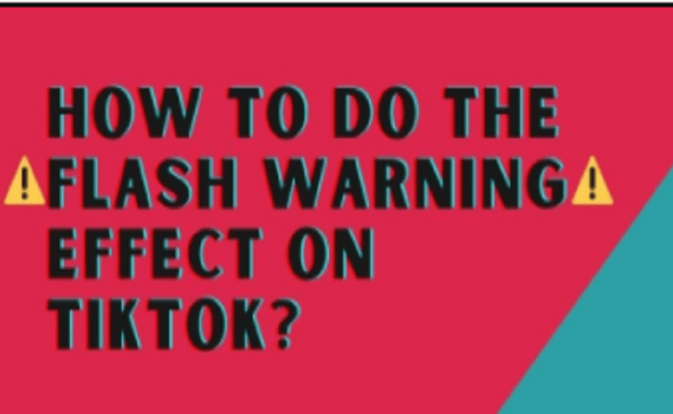Image Of How To Get Flash Warning Filter On TikTok