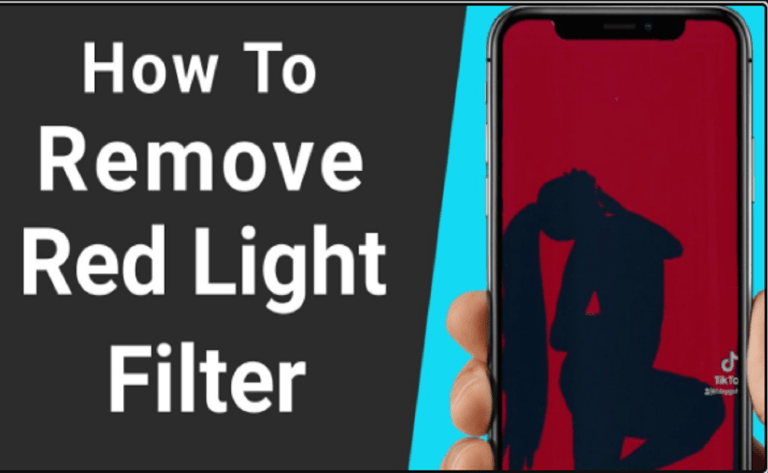 How To Remove Red Light Filter On Silhouette Challenge