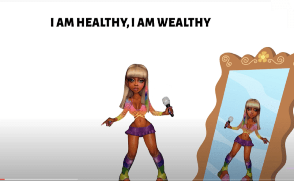Image Of I Am Healthy I Am Wealthy TikTok Song