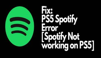 Ps5 Spotify Error