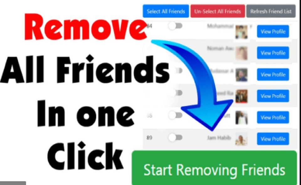 Image Of How To Unfriend All Friends On Facebook Using Android Phone