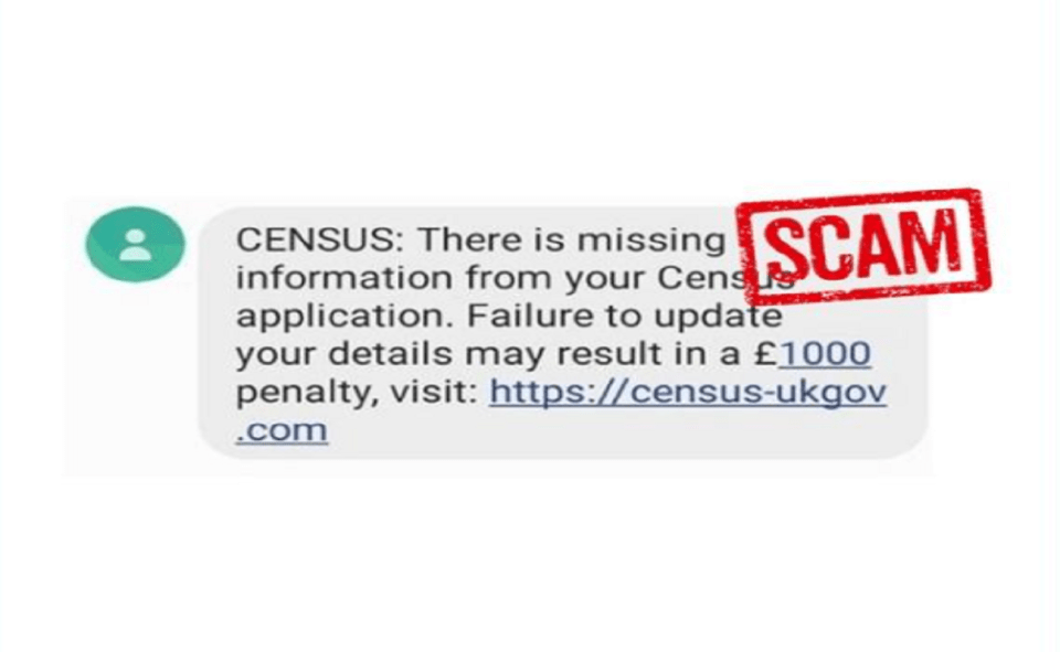 Image Of What Is Census Text Scam