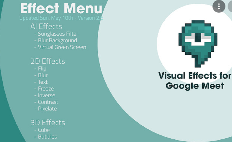 Image Of What Is Visual Effects For Google Meet