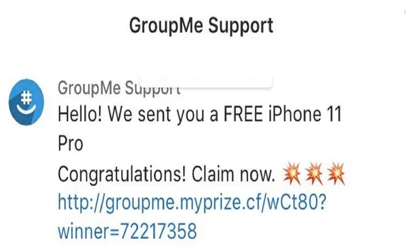 Groupme Scam