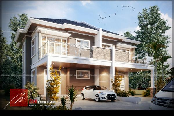 PROPOSED MODERN DESIGN SEMI DETACHED HOUSE Brunei Property And