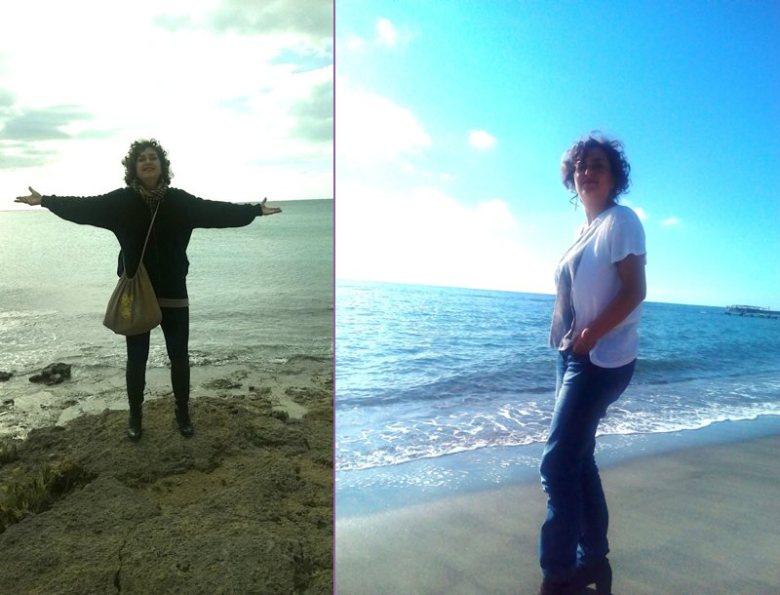 chi sono: Brunella Marcelli in riva al mare