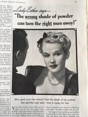 A typical representation of women in the adverts of the Ladies Home Journal