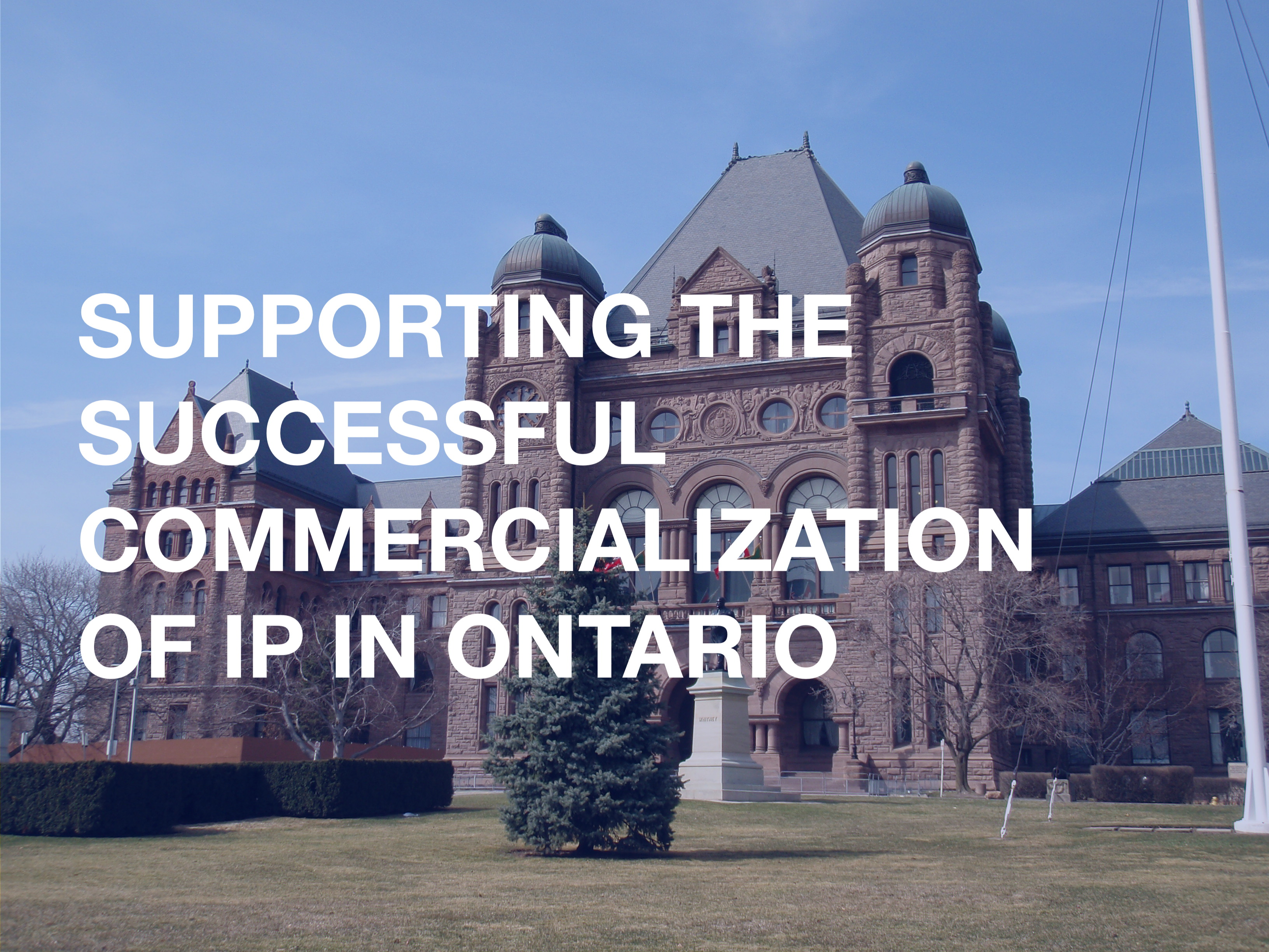 SUPPORTING THE SUCCESSFUL COMMERCIALIZATION OF IP IN ONTARIO