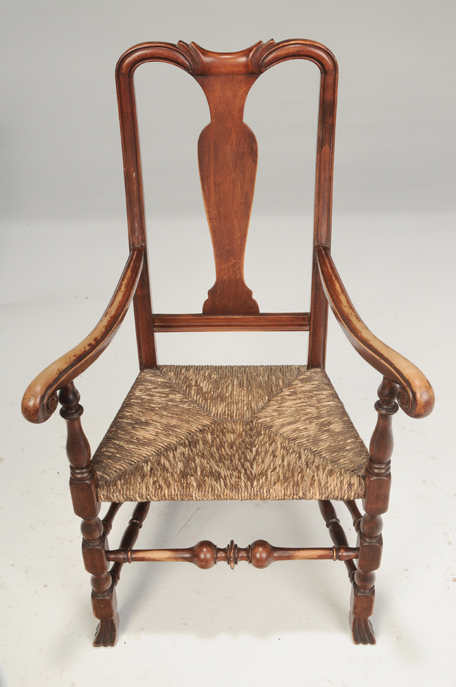 queen anne style chairs holly hunt siren chair brunk auctions two american