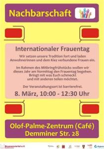 Flyer, Frauentag