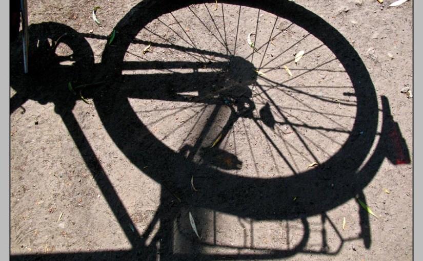 Schatten vom Fahrrad