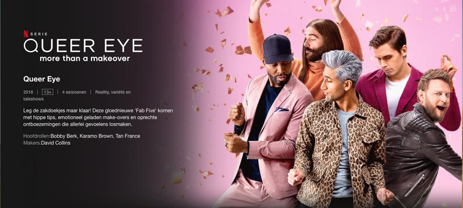 Queer Eye - programma op Netflix