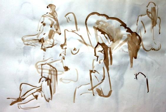 Fabienne - pinceau et brou de noix
