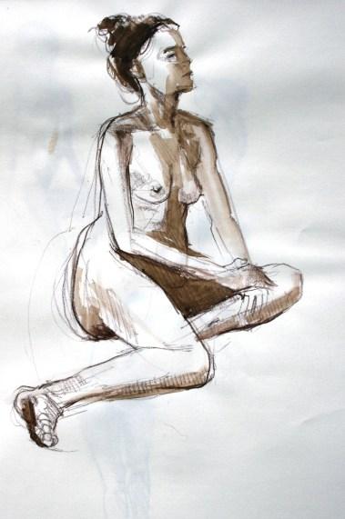 Fabienne assise