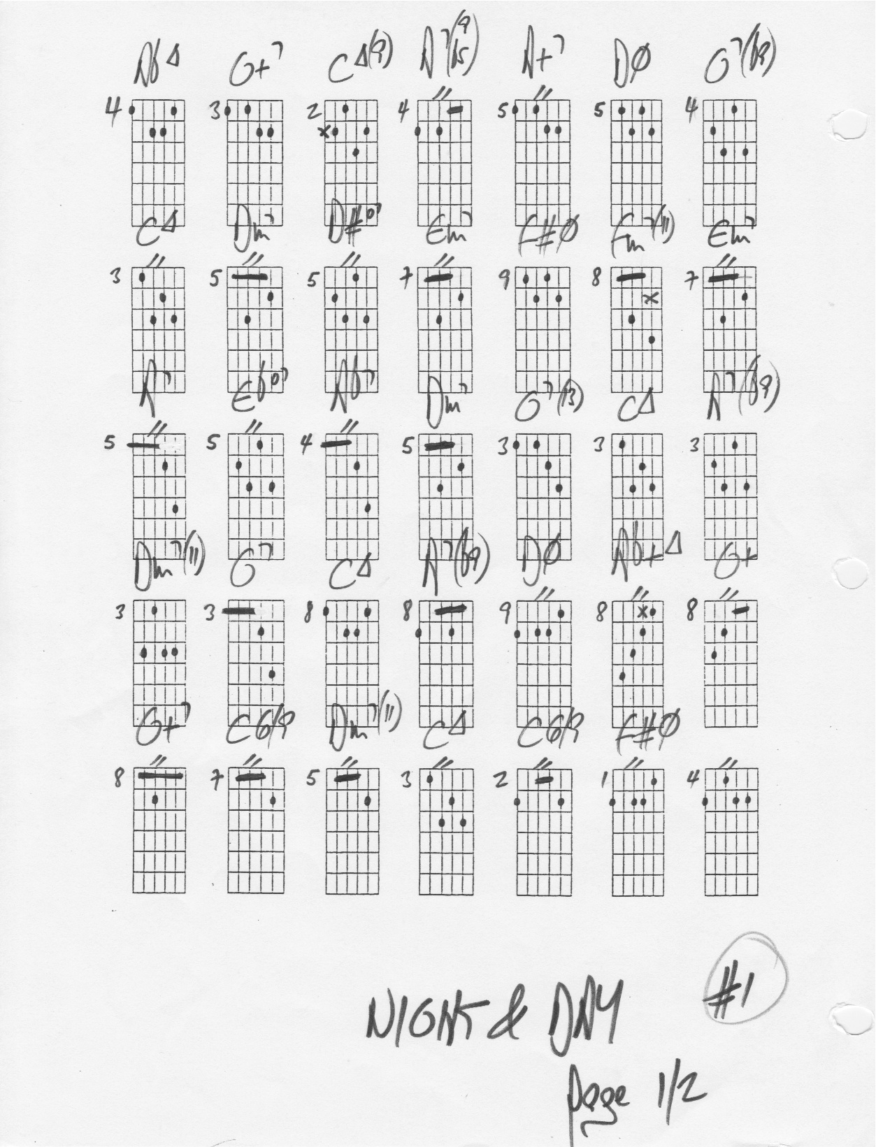 Night And Day The Chord Changes