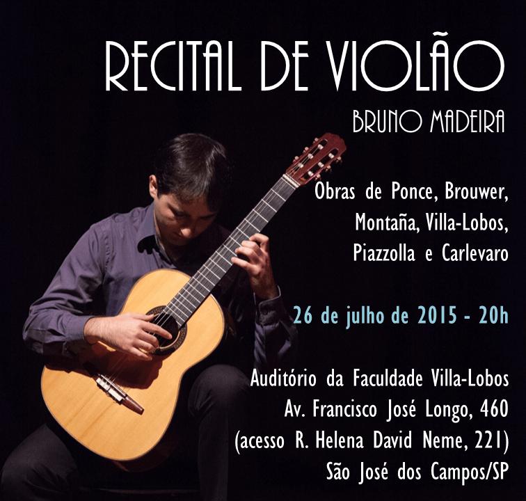 bruno madeira recital são josé dos campos Recital   Bruno Madeira (São José dos Campos, 26/07/15)