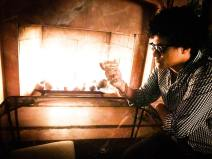 Bruno Mars Look Alike By The Fire