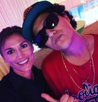 24k Magic Tour Outfit Worn By Celebrity Impersonator Johnny Rico As Bruno Mars