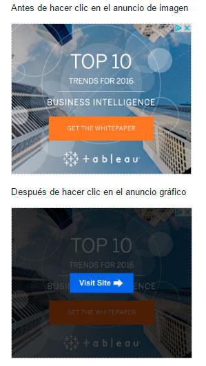 Filtro de clics inválidos en anuncios móviles de Adsense