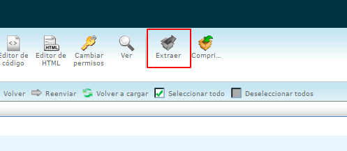 Descomprimir el archivo zip de WordPress con cPanel