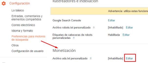Cómo instalar ads txt en un blog en blogger