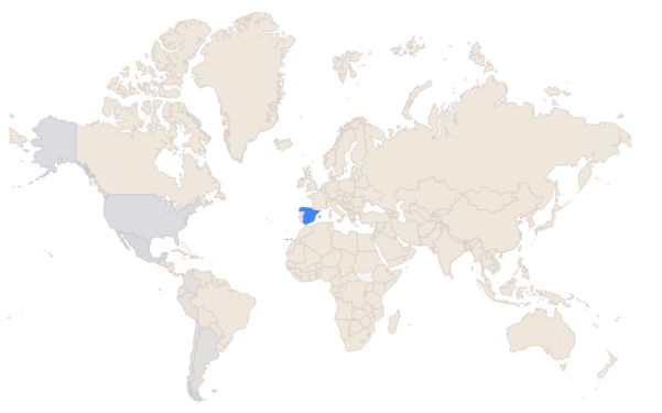 Ingresos de Adsense por países