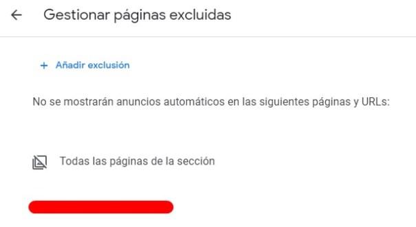 Exclusión de URL