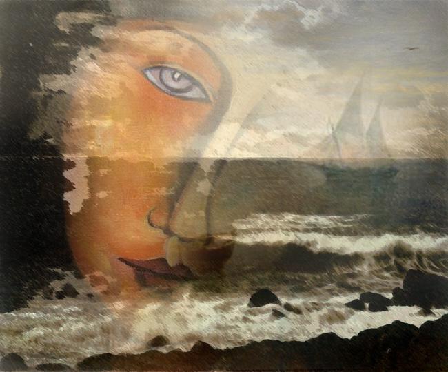 Bruno Rigolt Soir et la Mer_Digital Painting-2013 Copyright
