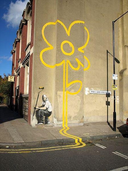 Banksy-Yellow Flower_1