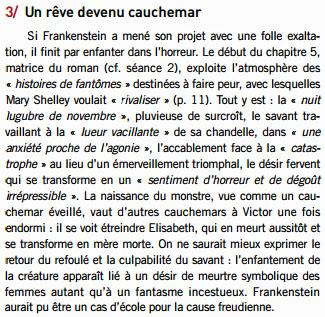 encart Frankenstein Rêve_cauchemar