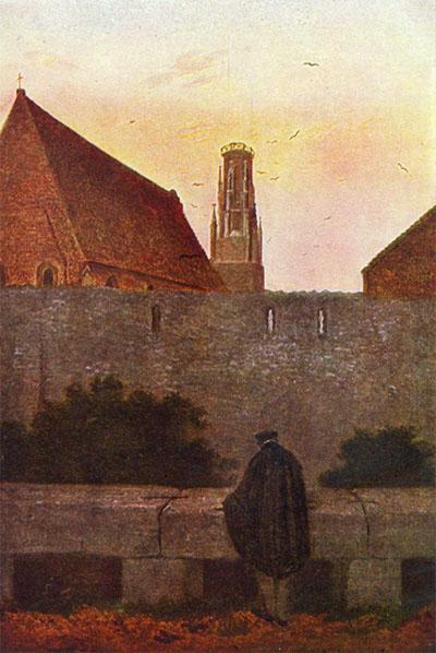 Caspar David Friedrich_An der Stadtmauer_modifié-2