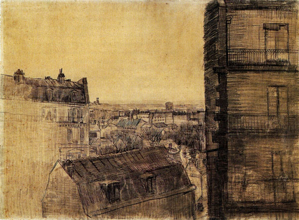 Vincent Van Gogh  la rue Lepic vue de l'appartement