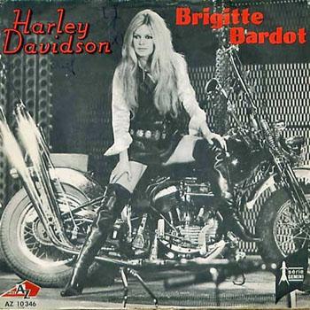 Brigitte Bardot Harley Davidson