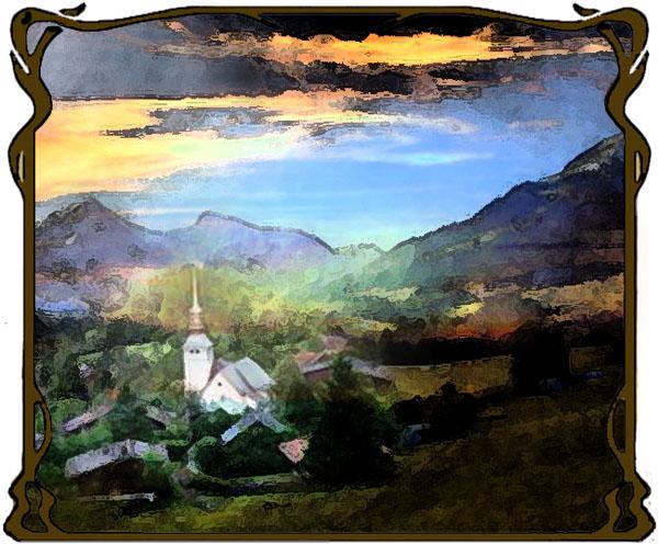 Village dans les Alpes_3