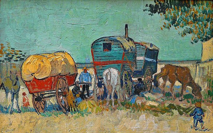 Van Gogh_Les_roulottes_campement_de_bohémiens_aux_environs_d'Arles