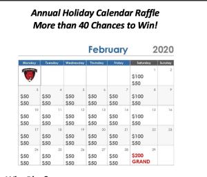 Calendar Raffle image