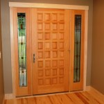 wood panel exterior door with sidelights madison wi
