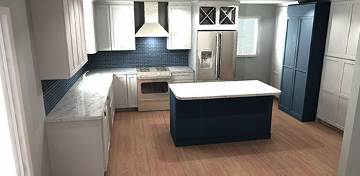 Kitchen Cabinet Design Layout in Supply NC