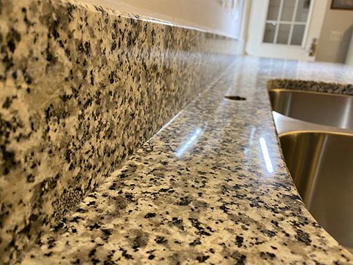 Granite Luna Pearl Countertops in Boiling Springs Lake Kitchen Remodel
