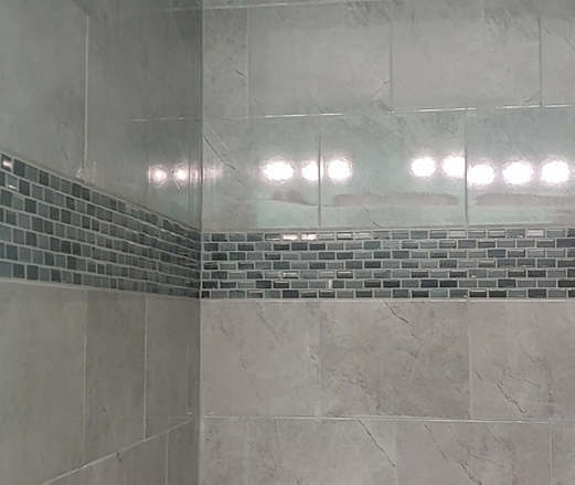 Master Shower Marble Wall Tile