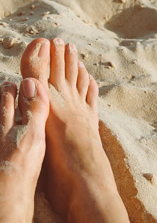 Sandy Toes on a Beach