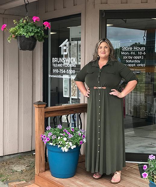 Design Specialist Lauren Suggs for Brunswick Tile and Flooring