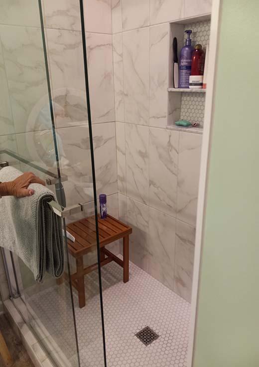 Master Tile Shower Renovation Bolivia NC