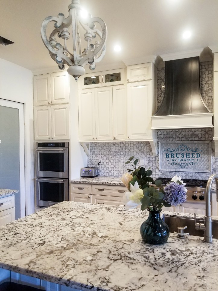 Full Kitchen Remodel with DIY Painted Range Hood Complete